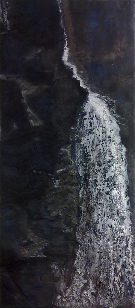 """""""La cascade"""" 55x125cm  Collection privée"""