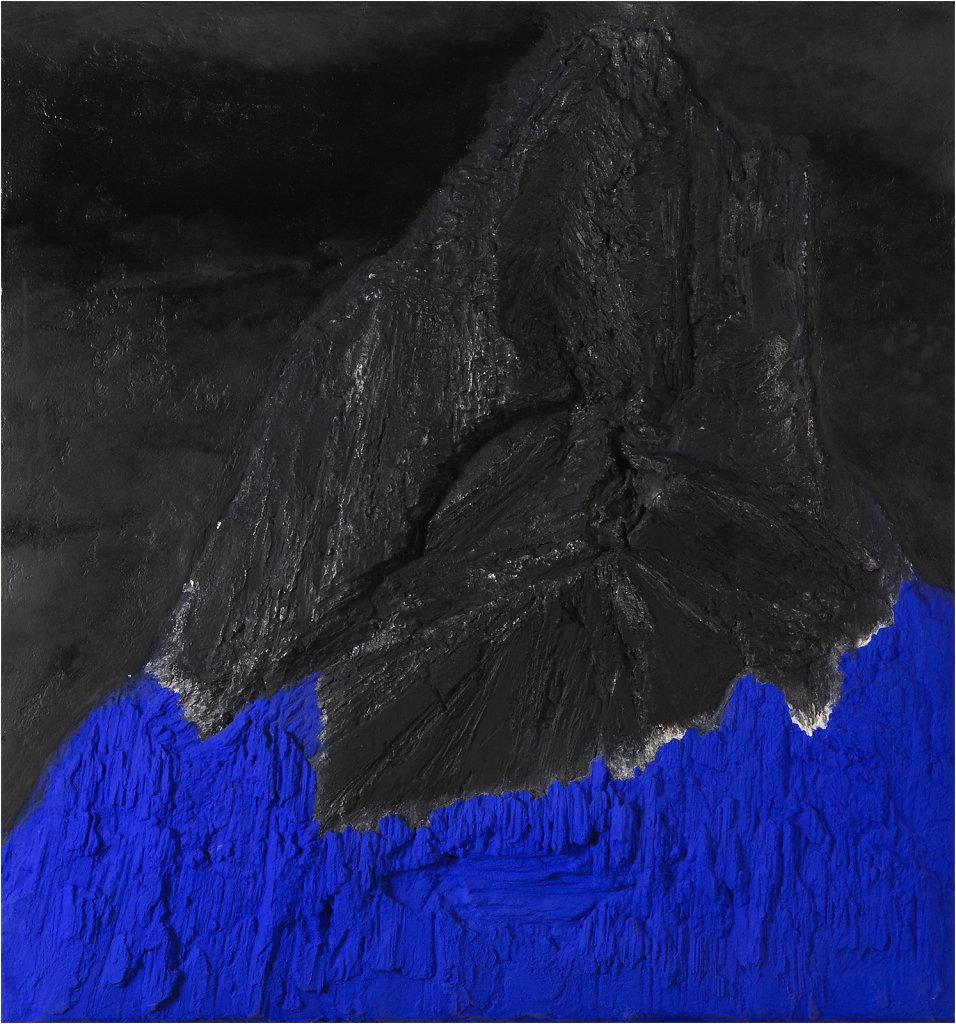 """""""Le pic de l'aigle"""" Janvier 2013, 70 x 65 cm"""