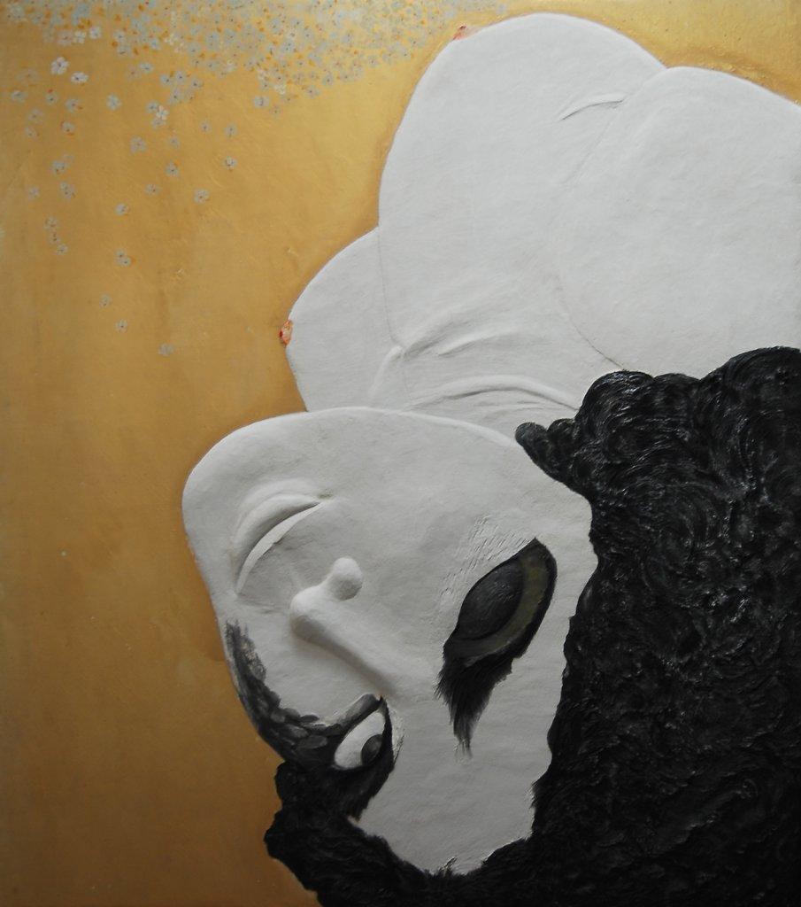 """""""J'ai culbuté le noyau"""" Juin 2012, 167,5 x 147,5 cm  Collection privée"""
