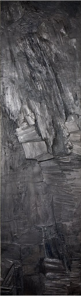 """Anthracite"" 206x56cm Collection privée"