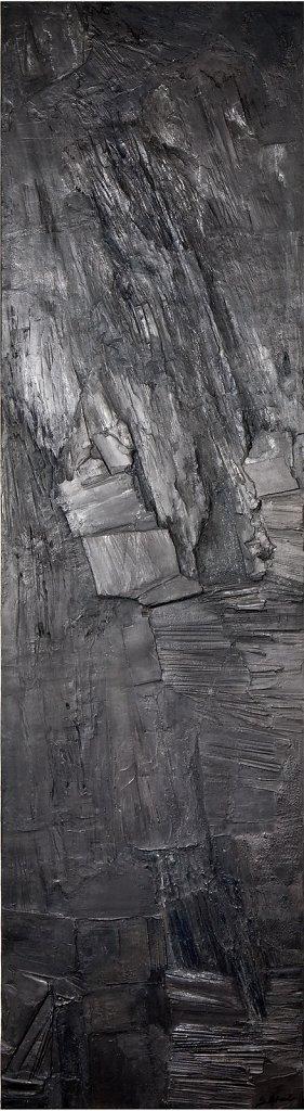 """Anthracite"" 206x56cm Collection privée"